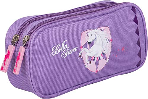 Trousse Double Compartiment Violet Cheval Bella Sara...