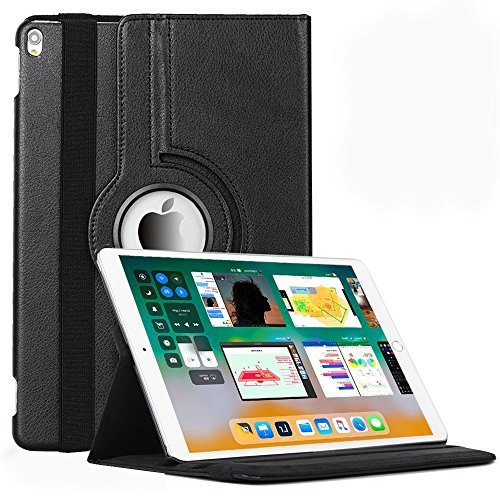 Aavjo ® New Apple iPad 2017 9.7 Inch Case , 360 Degrees Rotating Multi Angles Screen Protective Flip Folio Stand Smart Case Cover for Apple iPad 9.7″ Inch (2017 Released )