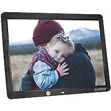 Andoer–Marcos de fotos digital 15pulgadas LED álbum pared montable escritorio 1280* 800soporte mando a distancia con sensor de detección de movimiento
