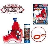 Set infantil niños con diferentes motivo con pistola de pompas - Spiderman