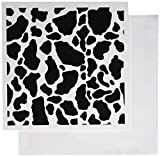 3drose schwarz und weiß Kuh Kunstdruck–Grußkarten, 6von Foto, Set 12(GC 15424_ 2)
