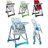 Monsieur Bébé ® Trona para bebé plegable, regulable en altura, carpeta y la tableta - 4 colores...