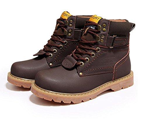 Brinny Herren Worker Boots Outdoor Schuhe Warm Gefüttert Profil Sohle Gefüttert Dunkelbraun