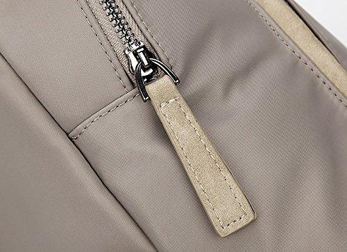 CLOTHES- Sacchetti di nylon della zanzara della tela delle signore Sacchetti di spalla del panno del Oxford del sacchetto della borsa di svago della borsa di svago di viaggio ( Colore : Grigio ) Grigio