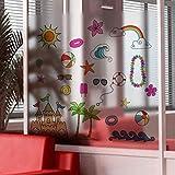 Fensterfolien Sonnenschein Strand Milchglas Aufkleber Fenster Papier Schiebetür Bad Badezimmer Fenster Balkon 58 * 60Cm
