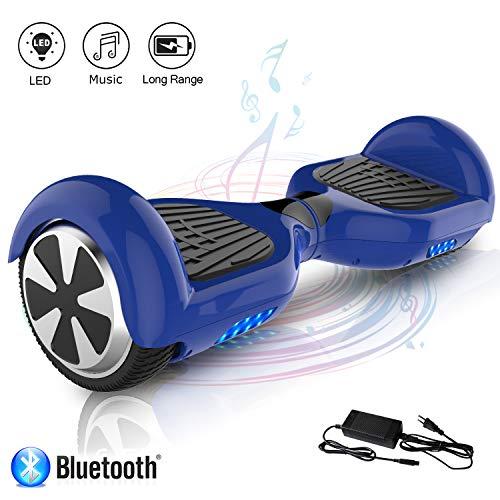 COLORWAY Hoverboard Self Balance Board Elektro Scooter Roller EU Sicherheitsstandard, mit Bluetooth Lautsprecher (JD BLAU)
