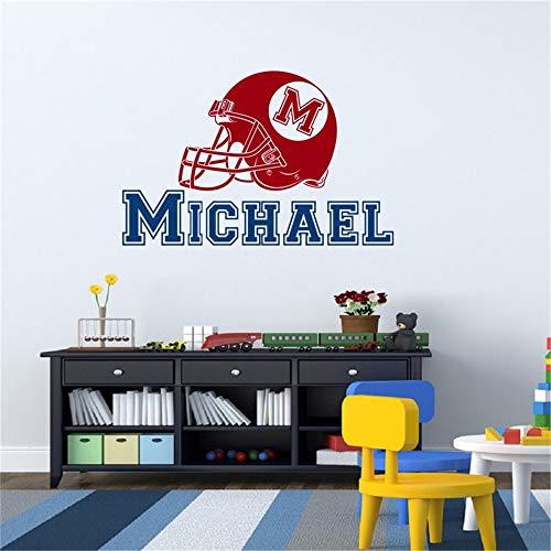 wandaufkleber gras Name Name American Football Hut baby Aufkleber Schlafzimmer Dekoration Aufkleber Jungen Kinderzimmer Personalzied