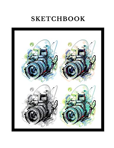 Sketchbook: A  Camera Photo Themed Personalized Artist Sketch book Notebook and Blank Paper for Drawing, Painting Creative Doodling or Sketching. -