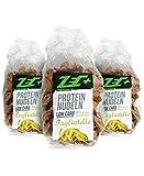 ZEC+ PROTEIN Low Carb NUDELN | leckere und kalorienarme Pasta mit Proteinen | sehr wenige Kohlenhydraten Low Carb | hoher Ballaststoffanteil | 3er Pack (3x250g) 750g