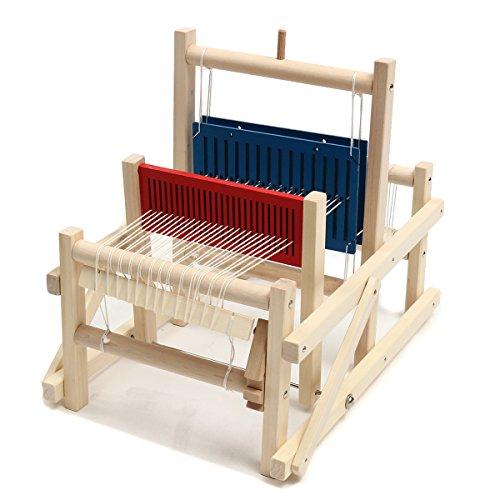 Stoff Traditionellen Tabelle (DyNamic Handwerk Holz Traditionelle Tabelle Knitting Weaving Loom Kids Spielzeug Pädagogische Diy Brocade Modell)