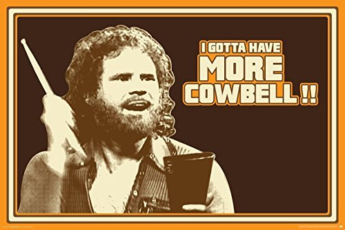 Saturday Night Live, Will Ferrell More Cowbell Fernseher Vielzahl Skit Comedy-Serie TV Show-Fernsehserie Poster-Print (24 x 36