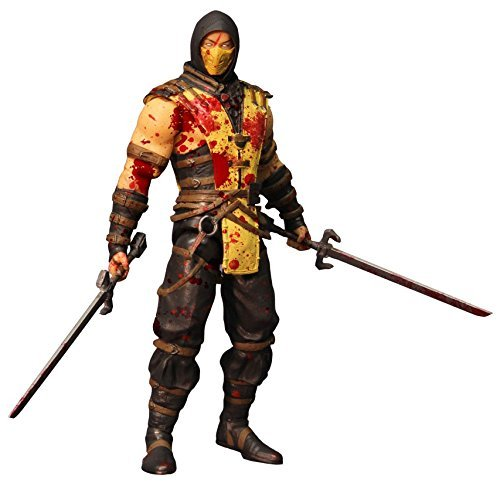 mbat X: Scorpion (Bloody Version) 6 Action Figure by Mezco (Mortal Kombat Requisiten)