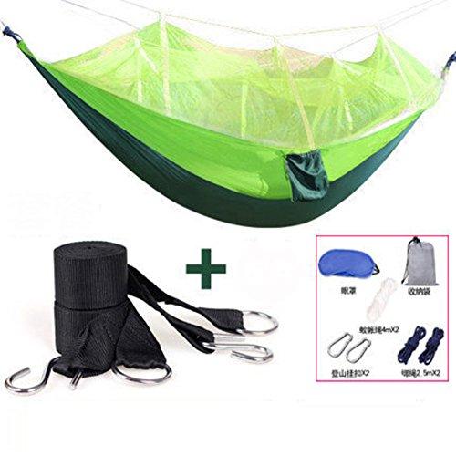 L&j amaca con cerniera zanzariere,all'aperto base dell'oscillazione lightweight traspirabilità portatile paracadute di nylon amaca campeggio backpacking viaggi trekking-e