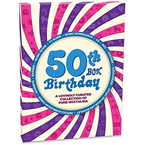 retroco 50esimo compleanno Retro Memorabilia collezione a spirale, confezione regalo