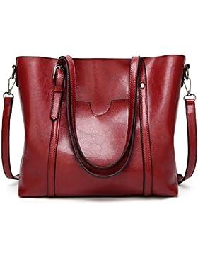 Modemoven Damen Handtaschen Casual Top Griff Satchel Schultertasche Lady Messenger Tote Bag Geldbörse