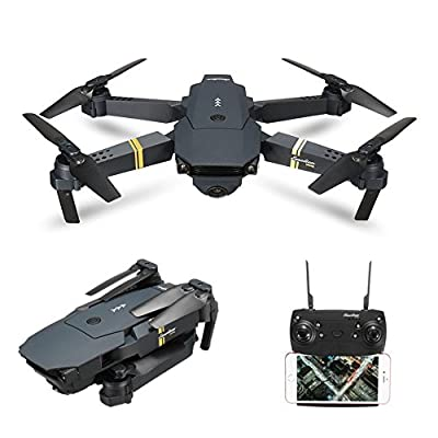 Foldable RC Drone With Camera Live Video, EACHINE E58 WIFI FPV Quadcopter Drone With 2.0MP 720P Wide Angle Camera Mobile APP Control Altitude Hold Mode Selfie Pocket Quadcopter RTF