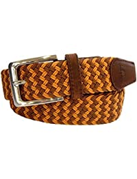 Brown et Orange Zig Zag Ceinture par Tyler & Tyler