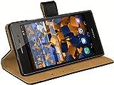 mumbi Ledertasche im Bookstyle für Huawei Ascend P7 Tasche