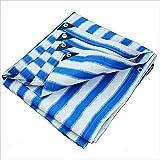PENGFEI Sichtschutznetz Sonnensegel Plane Sonnencreme Verschlüsselung Draussen Gewächshaus Pflanze Schatten Carport Anti-UV Polyethylen, Mehrere Größen (Farbe : Blue+white, größe : 4 x 4m)