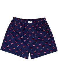 Happy Socks Cherries Men's Boxer Short, Blue/Red