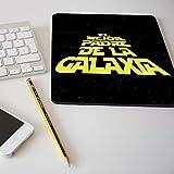 """Alfombrilla para ratón regalo original día del padre """"El mejor padre de la galaxia"""""""