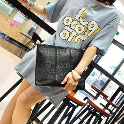 Tasche Handtasche Nähen einfach Mode große Kapazität, große schwarze Big black
