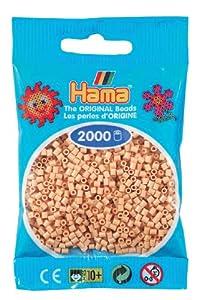 Desconocido Hama Perlen 501-27 - Mini perlas, beige 2000 piezas Importado de Alemania