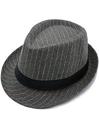 JEDAGX uomini donne unisex cotone leggero cappello di feltro con banda  nera ab2c77f4de85