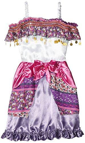 Gipsy Kostüm Girl (Widmann 49418 - Kinderkostüm Zigeunerin Gipsy, Kleid und Kopftuch, lila, Größe)