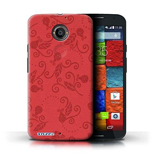 Kobalt® Imprimé Etui / Coque pour Motorola Moto X (2014) / Noir / Blanc conception / Série Motif Coccinelle Rouge
