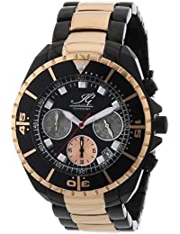 Ingraham Herren-Armbanduhr XL Syracuse Chronograph Quarz Edelstahl beschichtet IG SYRA.1.618467
