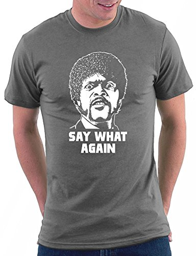 Pulp Fiction -Say What Again T-shirt Darkgrey
