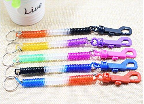 Preisvergleich Produktbild FlowerKui Flexible Spiral Spiralkabel Strap Schlüsselanhänger Key Holder