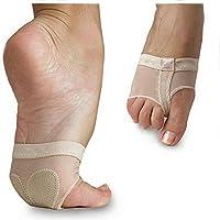 Almohadillas del dedo del pie,ANGTUO Toe profesional cojines antirresbaladizos de la danza del vientre baile del ballet gimnasia ejercicios del baile calcetines latinos del baile Accesorios de la ropa,XL