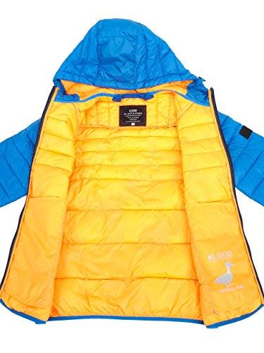 JACK JONES - Men's hooded jacket baron puffer Light Blue