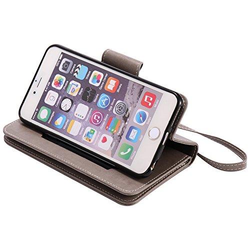 Etui Coque TPU Slim Bumper pour Apple iPhone 6 Plus (5,5 pouces) Souple Housse de Protection Flexible Soft Case Cas Couverture Anti Choc Mince Légère Silicone Cover Bouchon -photo Frame Keychain #AN ( 4