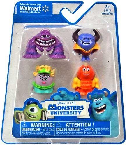 Disney / Pixar Monsters University Exclusive 1 Inch Mini Figure Art, Ms. Squibbles, George Sanderson & Johnny Worthington III by Monsters University