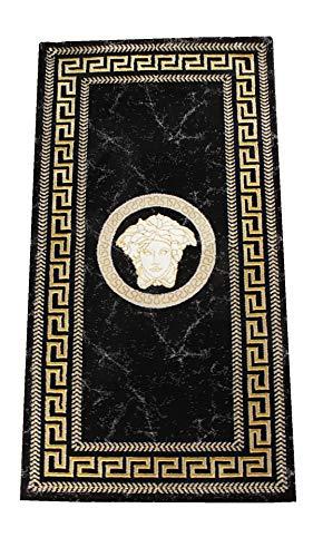 Deko-König Medusa Teppich 80x150 cm (schwarz/Gold)