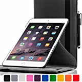 ForeFront Cases® New Apple iPad Air Rotating Leather Case Cover / Stand with Magnetic Auto Sleep Wake Function For New 2013 iPad Air + WiFi 16Gb, 32Gb, 64Gb, 128Gb - BLACK