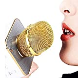 Attherate Handheld Wireless Microphone With Bluetooth Speaker For All IOS/Android Smartphones