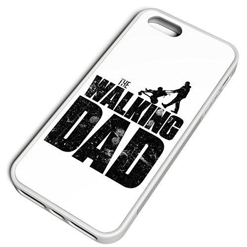 Smartcover Case The Walking dad z.B. für Iphone 5 / 5S, Iphone 6 / 6S, Samsung S6 und S6 EDGE mit griffigem Gummirand und coolem Print, Smartphone Hülle:Iphone 6 / 6S schwarz Iphone 5 / 5S weiss