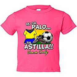 Camiseta niño De tal palo tal astilla Cádiz fútbol - Rosa, 9-11 años