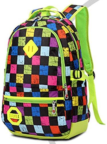 Keshi neuer Stil Schulrucksäcke/Rucksack Damen/Mädchen Vintage Schule Rucksäcke mit Moderner Streifen für Teens Jungen Studenten Rosa