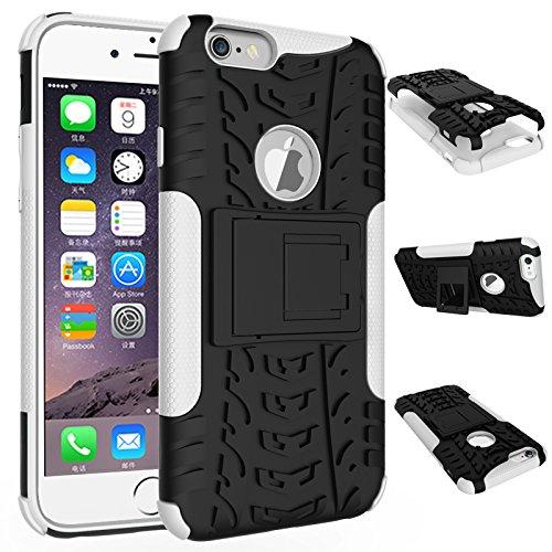 BCIT iPhone 6 6S Cover - Alta qualità Doppio Strato ibrido Cellulari Case Custodia protettivo Per iPhone 6 6S - Nero Bianco