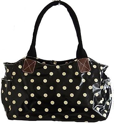 Gossip Girl - Oilcloth Day Bucket Bag Tote Handbag Polka Dot Spot / Flower Floral / Butterfly / Bird / Owl