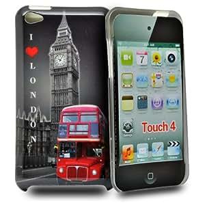 Accessory Master Coque rigide pour Apple iPod Touch 4 Bus vue et l'amour Londres