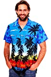 Funky Hawaiihemd, Beach, Blau, L
