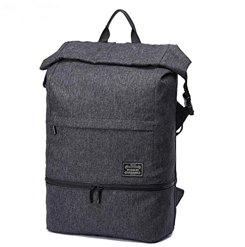 Zaino leggero sottile del computer portatile per uomini per gli uomini Zaino resistente all'acqua del computer 15.6 pollici Antifurto Traveling Bags Nero