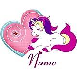 Einhorn Bügelbild, Unicorn Bügelbild mit persönlichem Namen plus 1 kleines Gratis Bild zum Üben;