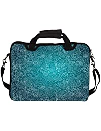 """Snoogg Seamless Texture With Flowers 10"""" 10.5"""" 10.6"""" Inch Laptop Notebook SlipCase With Shoulder Strap Handle..."""
